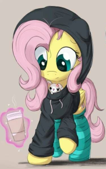 My Little Pony Fluttershy With Winter Outfits Picture - My