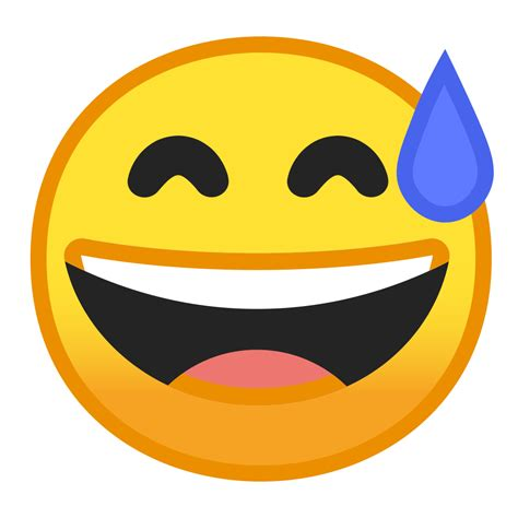 Grinning face with sweat Icon   Noto Emoji Smileys Iconset