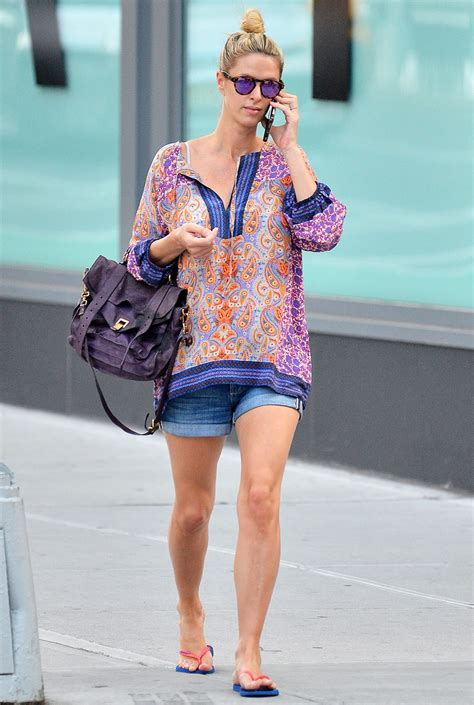 Nicky Hilton Wears Jean Shorts Weeks After Giving Birth