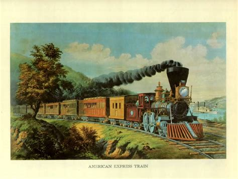 Trains on US Stamps - Currier & Ives Prints