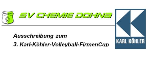 Firmencup Volleyball | SV Chemie Dohna e