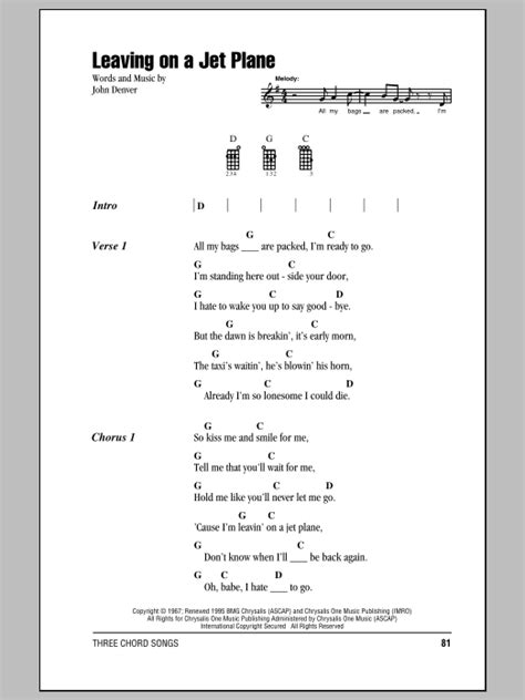 Leaving On A Jet Plane | Sheet Music Direct
