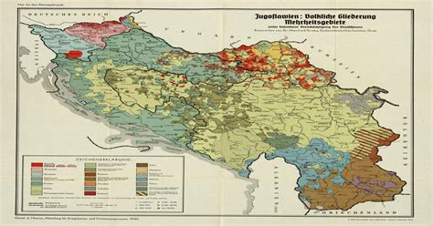 Ethnic map of Yugoslavia made by Nazi Germany in 1940
