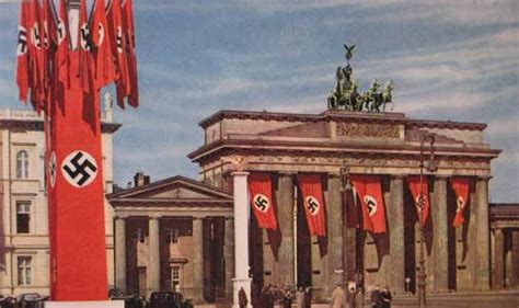 Third Reich Color Pictures: Swastika Flags