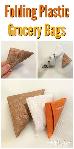 Folding Plastic Grocery Bags   ThriftyFun