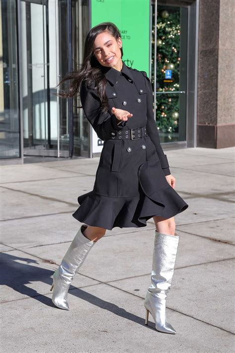 Sofia Carson in a Silver Boots Was Seen Out in New York