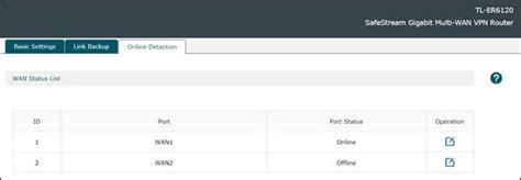 How to configure Online Detection for WAN link testing