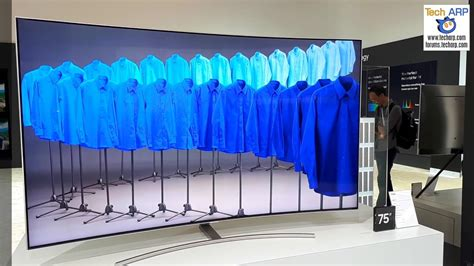"""The 75"""" Samsung 75Q8C Curved QLED TV Quick Look - YouTube"""