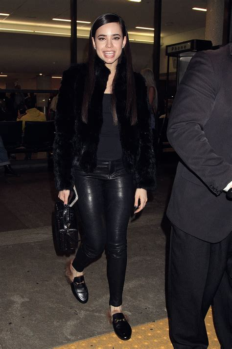 Sofia Carson seen at LAX - Leather Celebrities