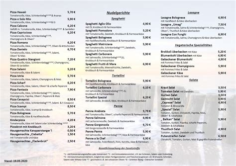 Istria Waging - Home - Waging am See - Menu, Prices